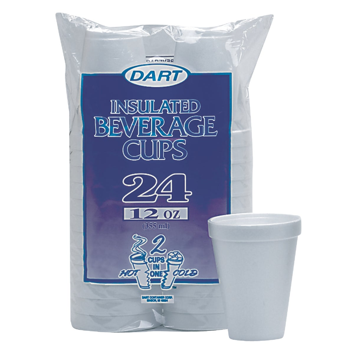 12OZ FOAM CUPS - 12JP24 by Dart Cont/d Bassett