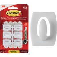 3M 18PK COMMAND MINI HOOK 17006-VP