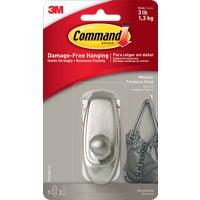 3M COMMAND LRG NICKEL HOOK 17061BN