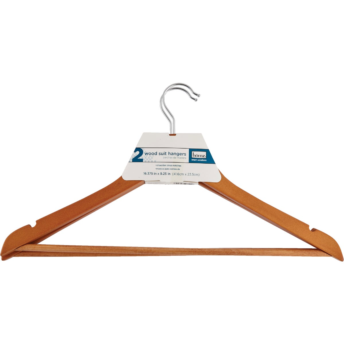 2PK WOOD SUIT HANGER - 8654WN2.18 by Homz  Seymour