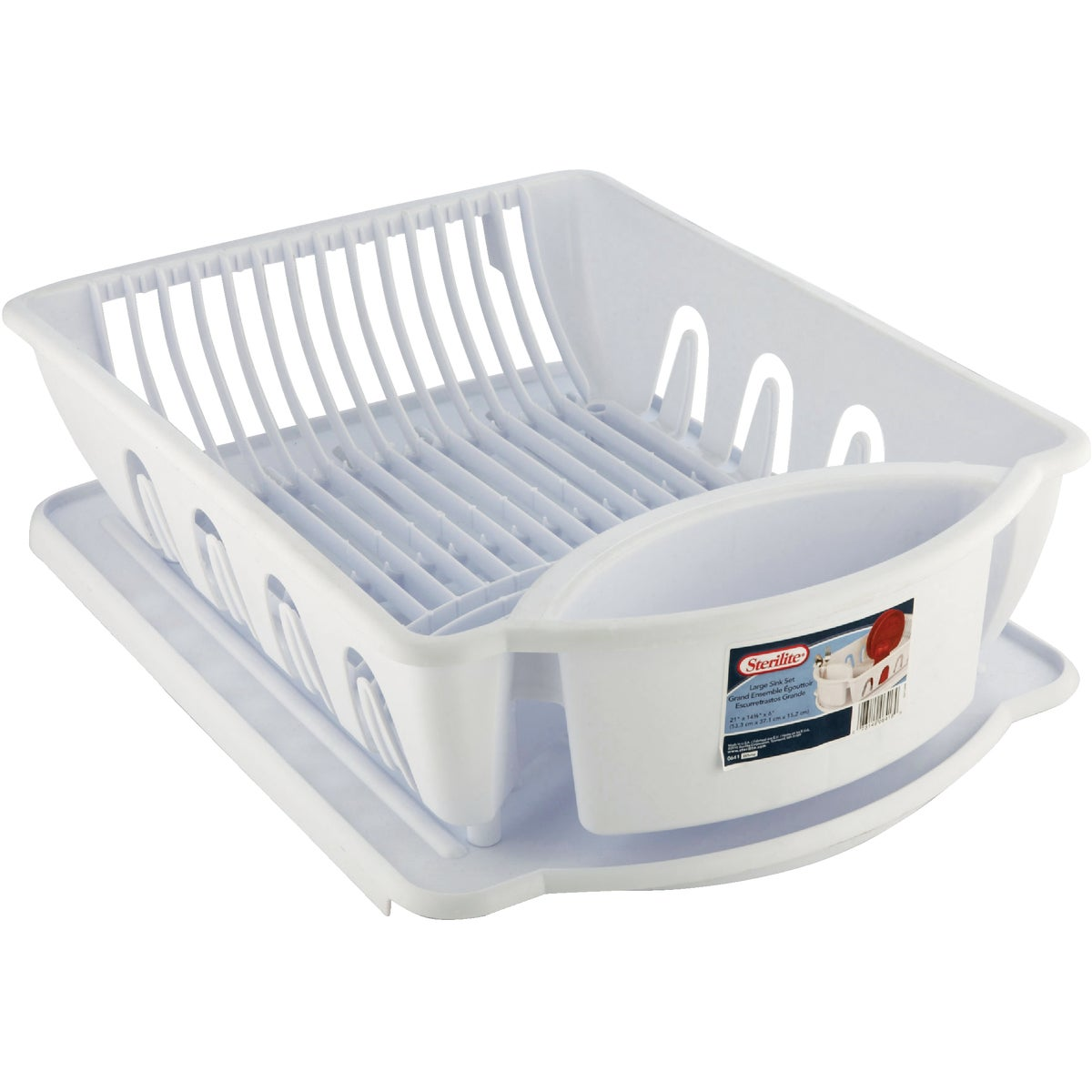 2PC WHITE DISH DRAINER