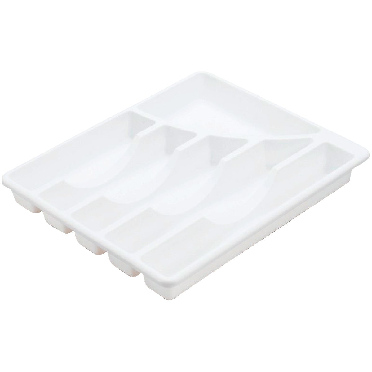 WHITE CUTLERY TRAY