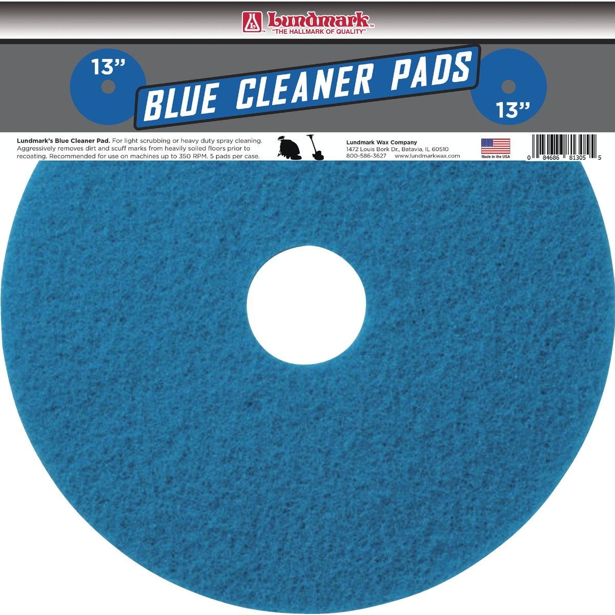 "13"" BLUE POLISH PAD"