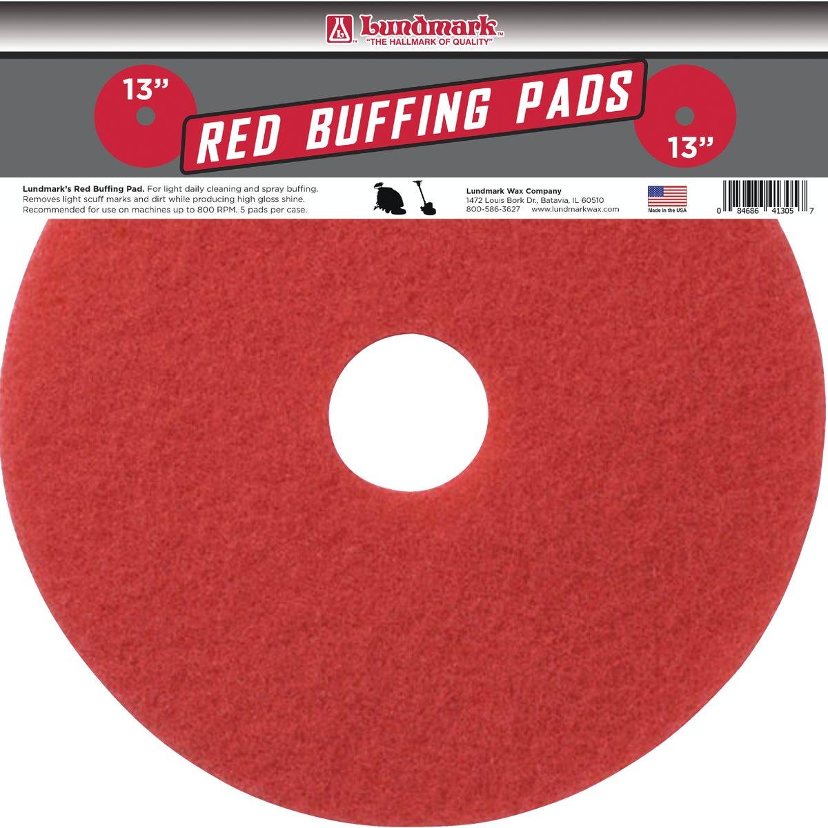 """13"""" RED SCRUB PAD"""