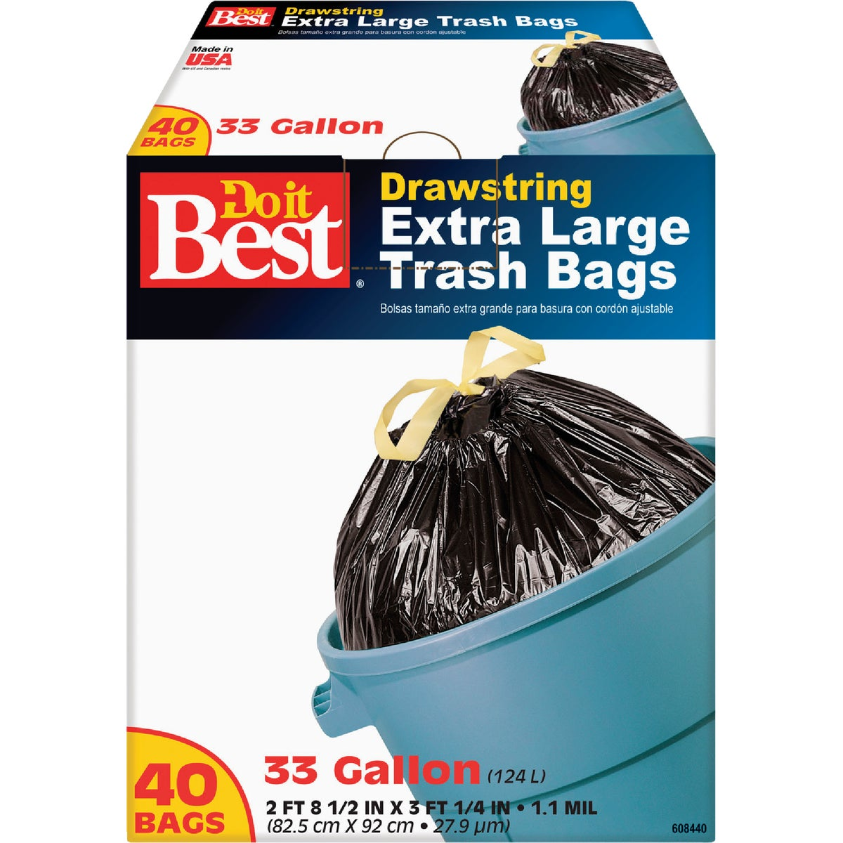 33GAL/40CT TRASH BAG