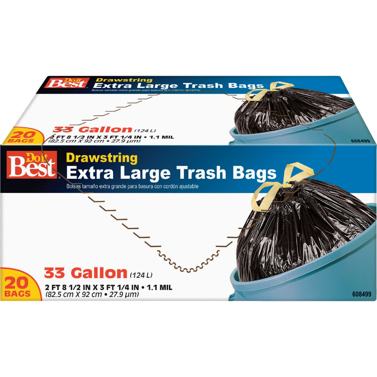 33GAL/20CT TRASH BAG