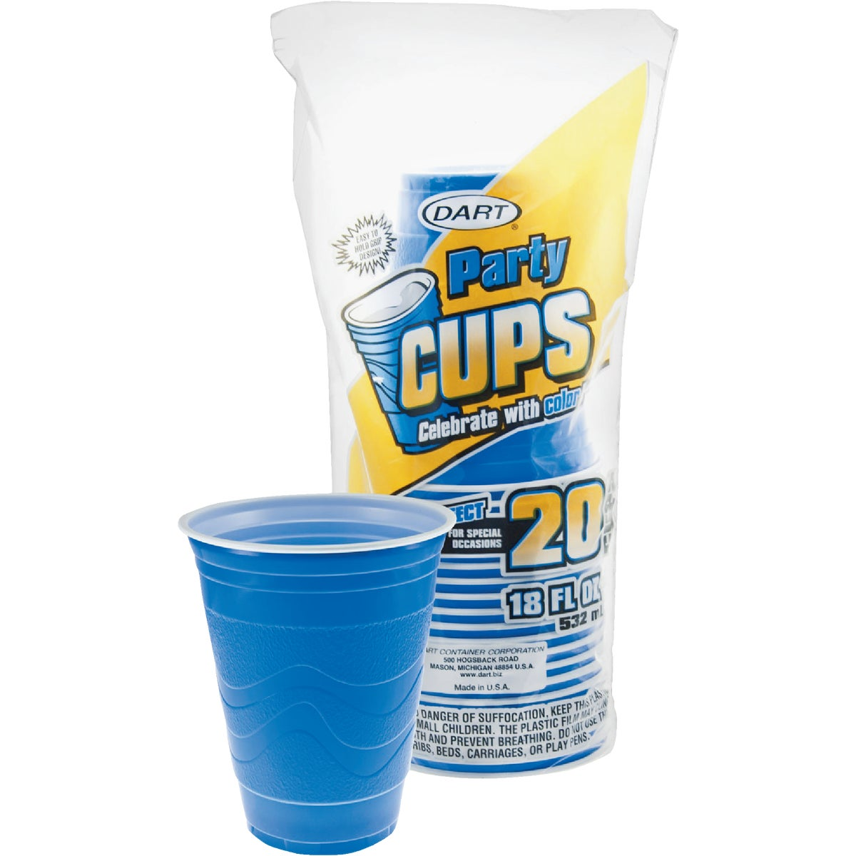 18OZ PLASTIC CUP - 18GB20 by Dart Cont/d Bassett