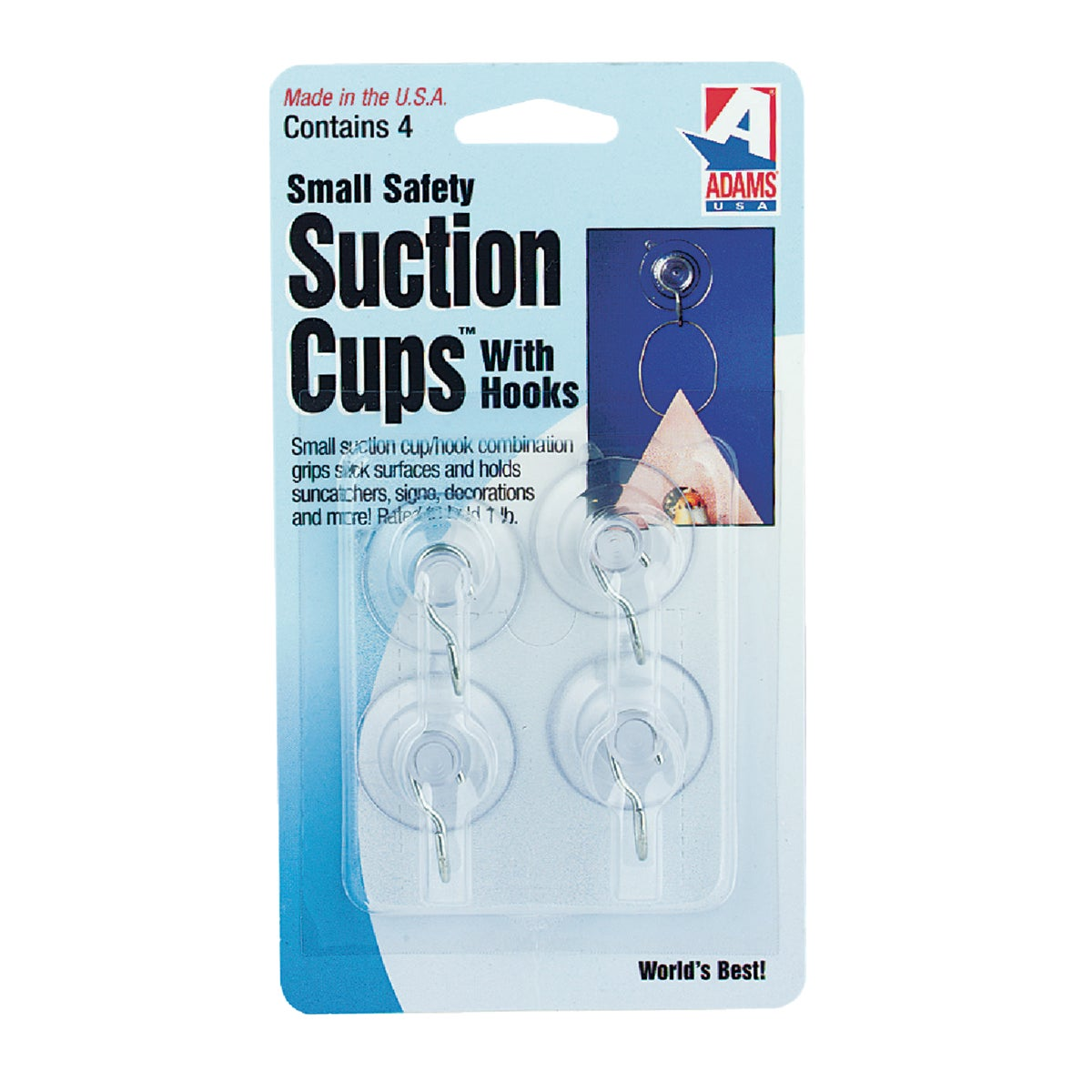Adams SMALL SUCTION CUP W/HOOK 7500-77-3040