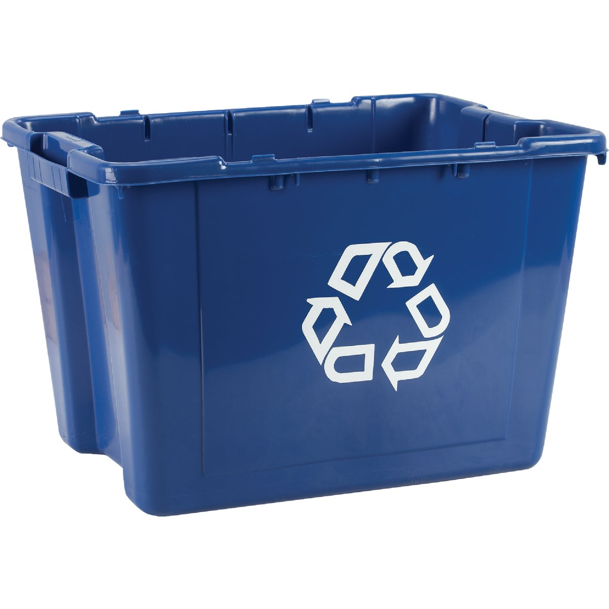 14GAL BLUE RECYCLING BOX - FG571473BLUE by Rubbermaid Comm Prod
