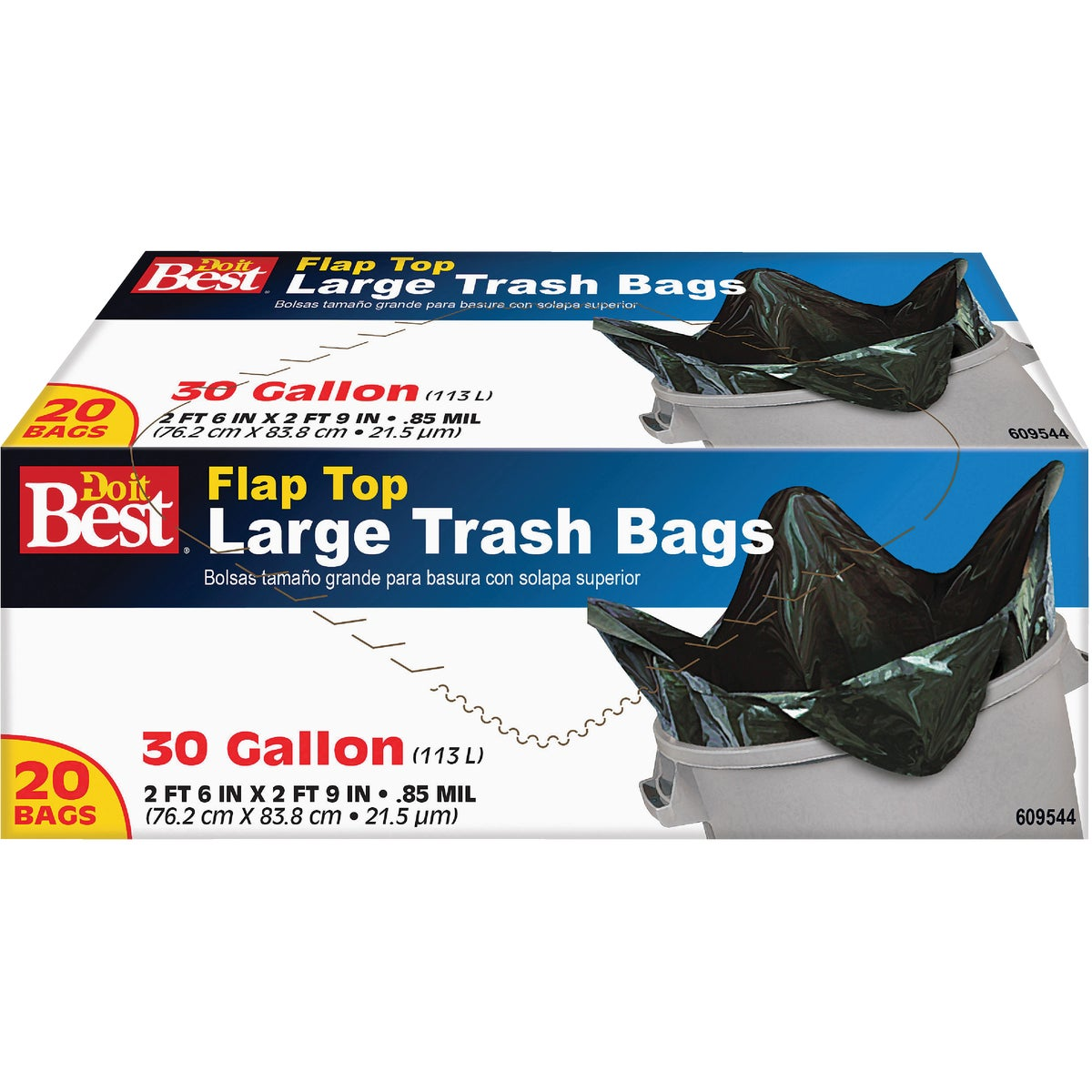 30GAL/20CT TRASH BAGS - 609544 by Presto Products