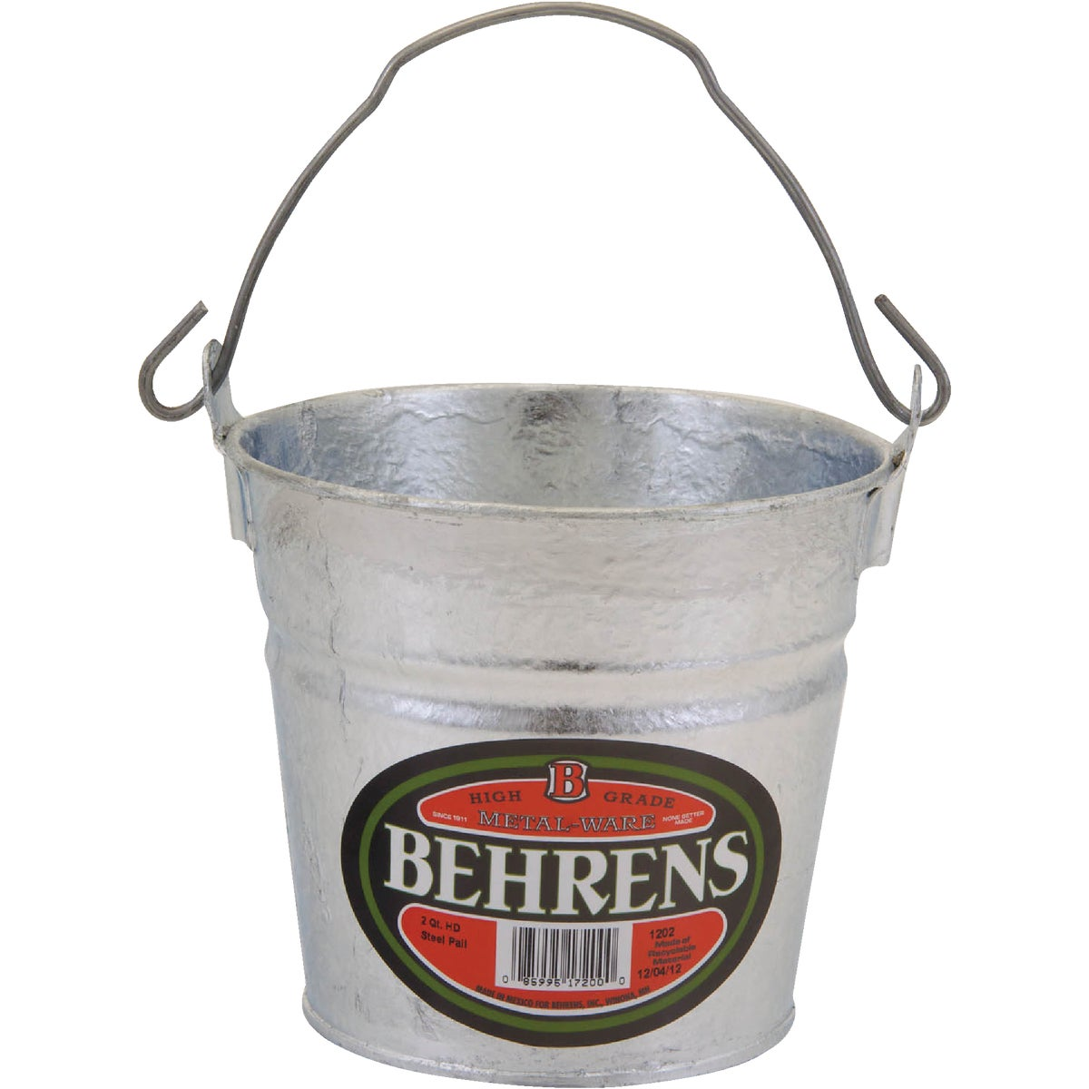 2QT HOT DIPPED PAIL - 1202 by Behrens Mfg
