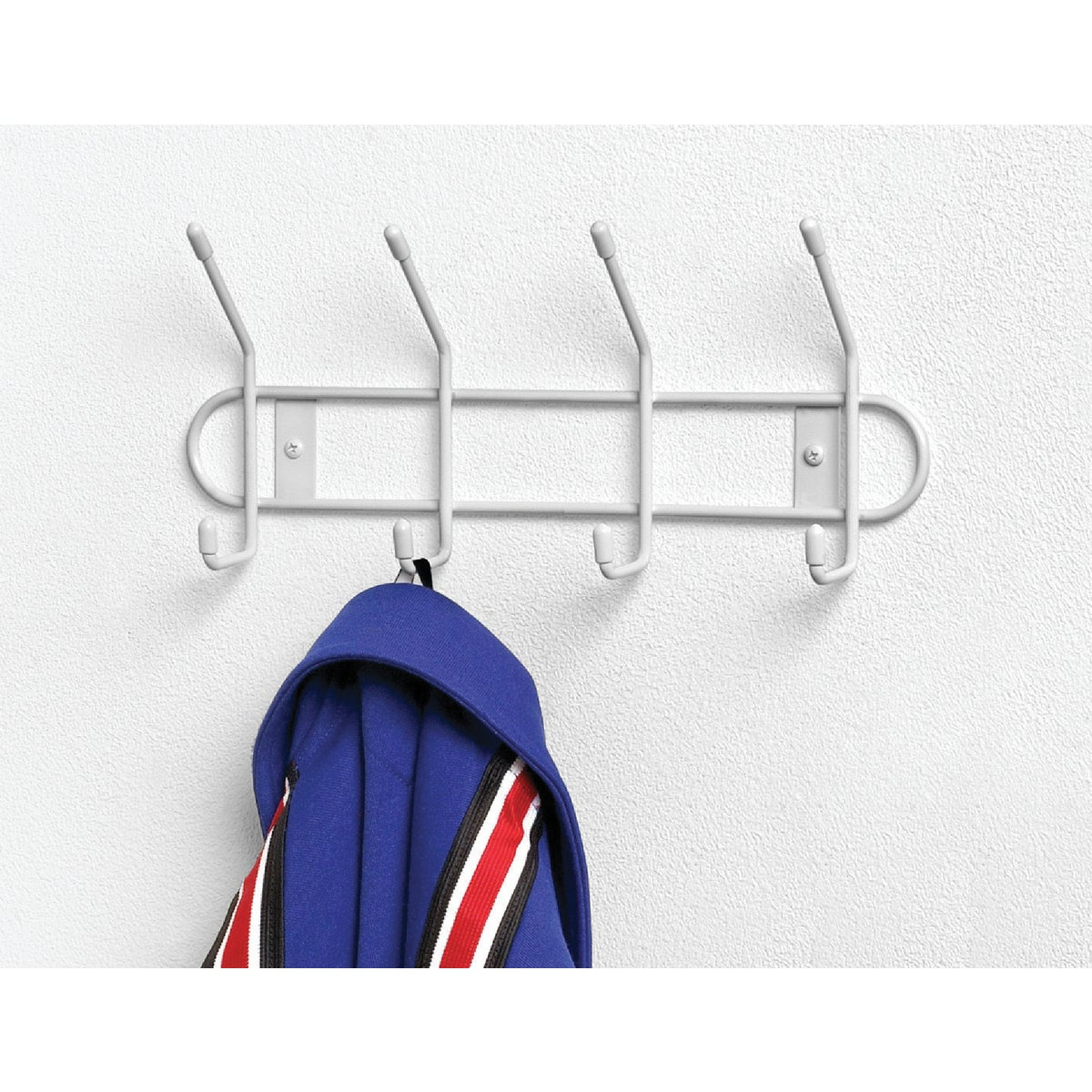 WHITE 4 HOOK RACK - 60400 by Spectrum Diversified