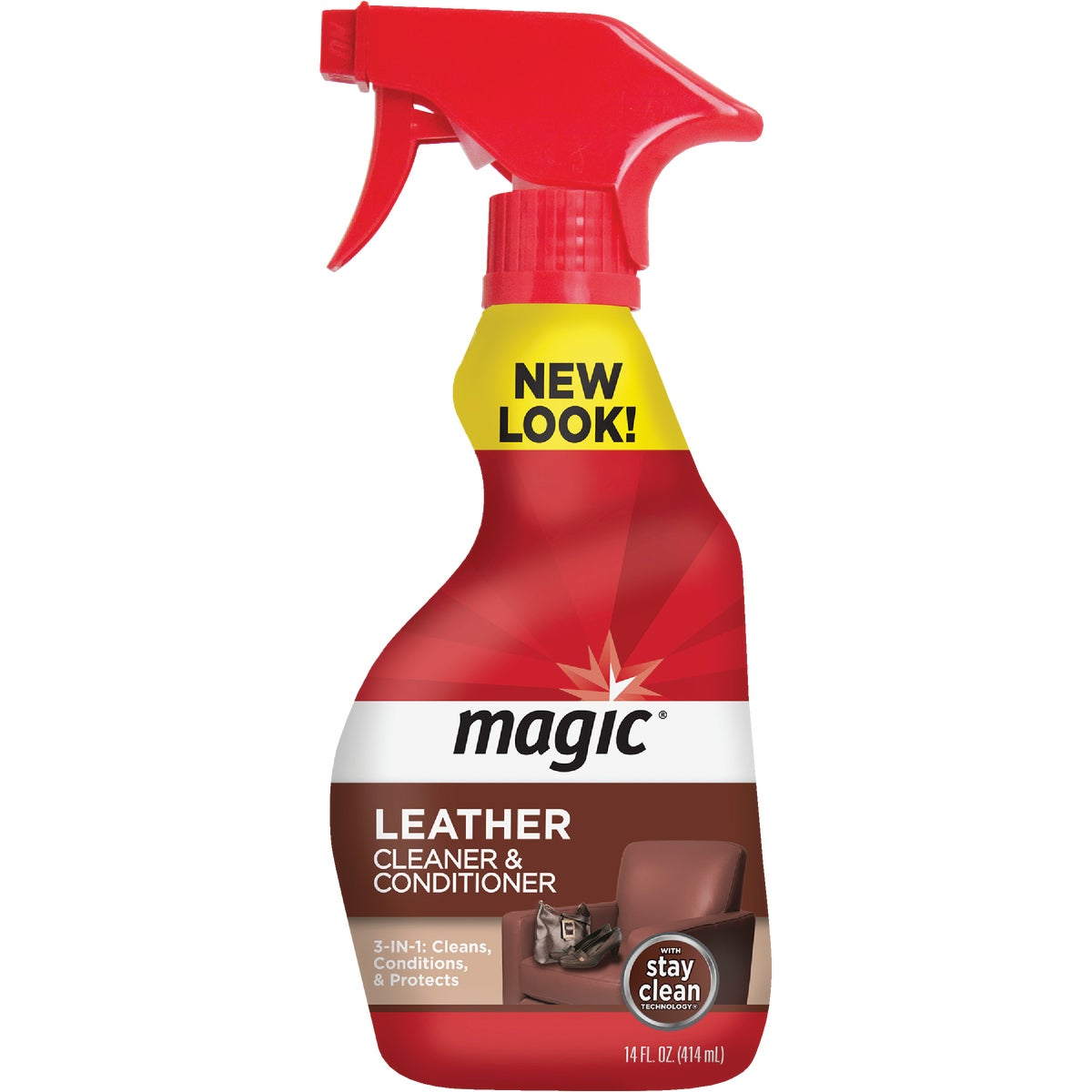 14OZ LEATHER CLEANER - 1877 by Magic Ntrl Magic Sci