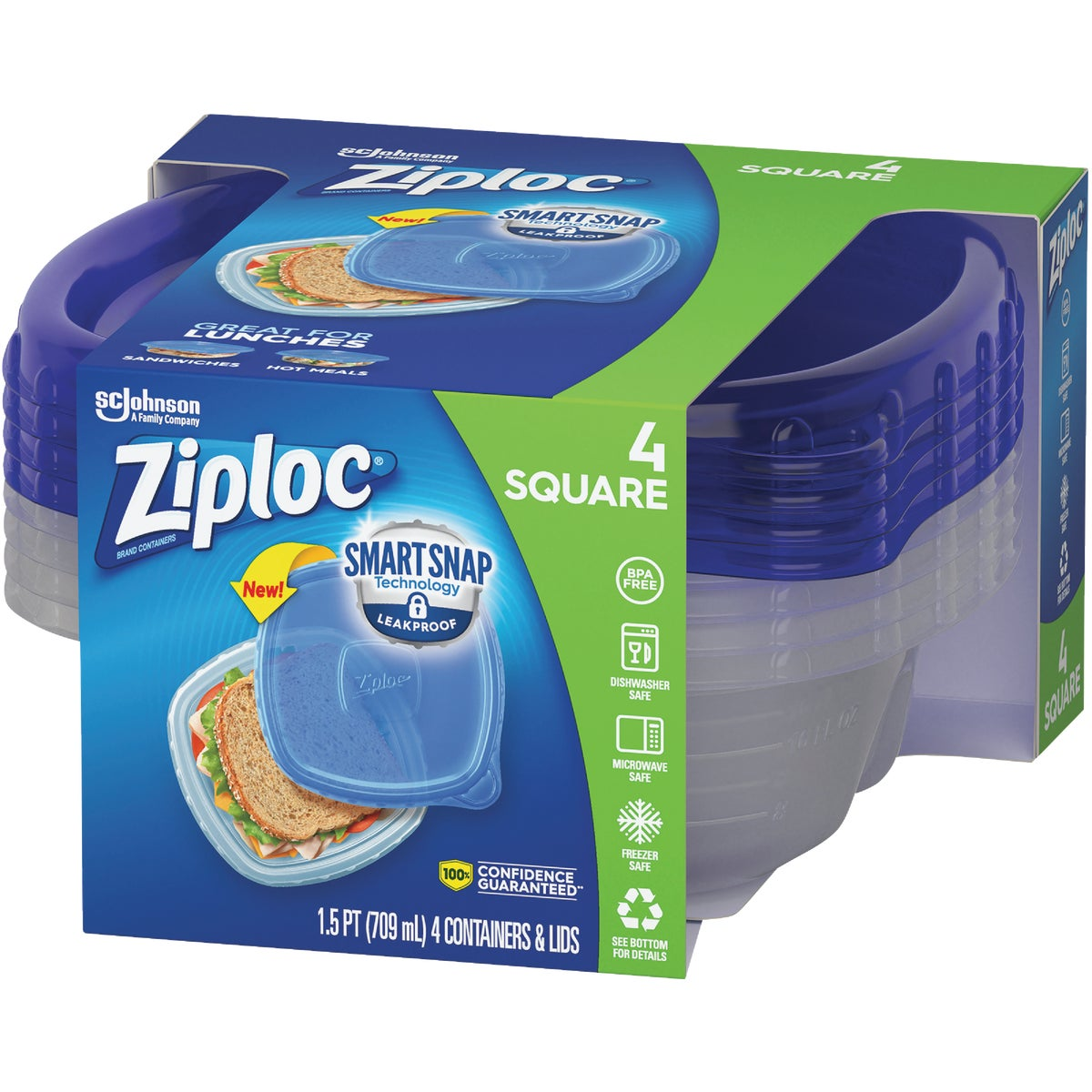 4 PACK FREEZER CONTAINER - 70935 by Sc Johnson