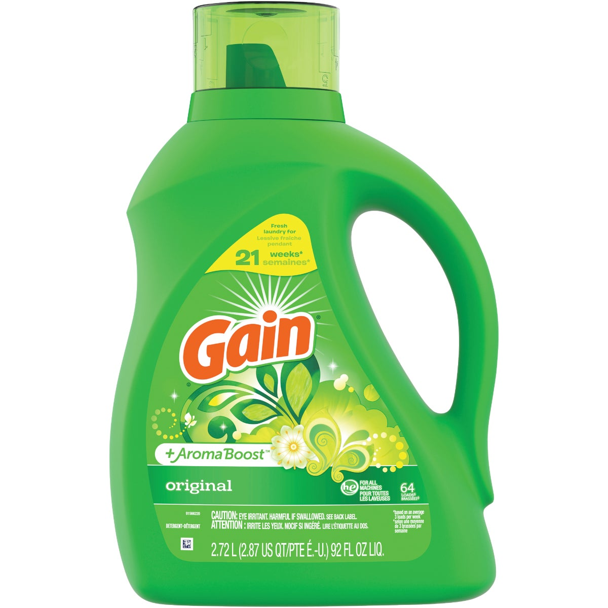 Gain FreshLock 2X Liquid Laundry Detergent, 12786