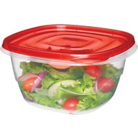 Rubbermaid 4PC SQUARE CONTAINERS FG7F54RE-TCHIL