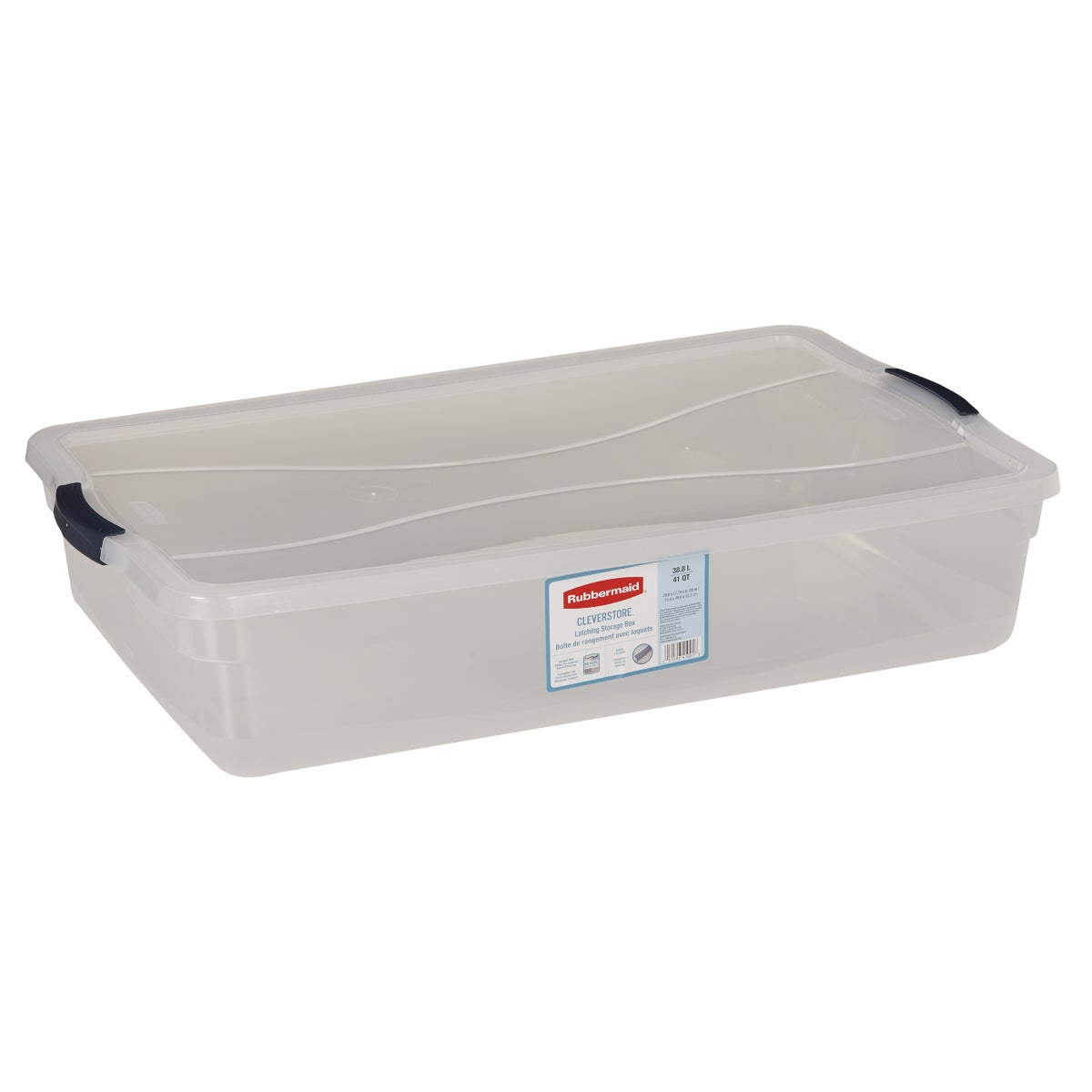 41QT LATCHING STORAGE - 3Q2900CLMCB by Rubbermaid Home
