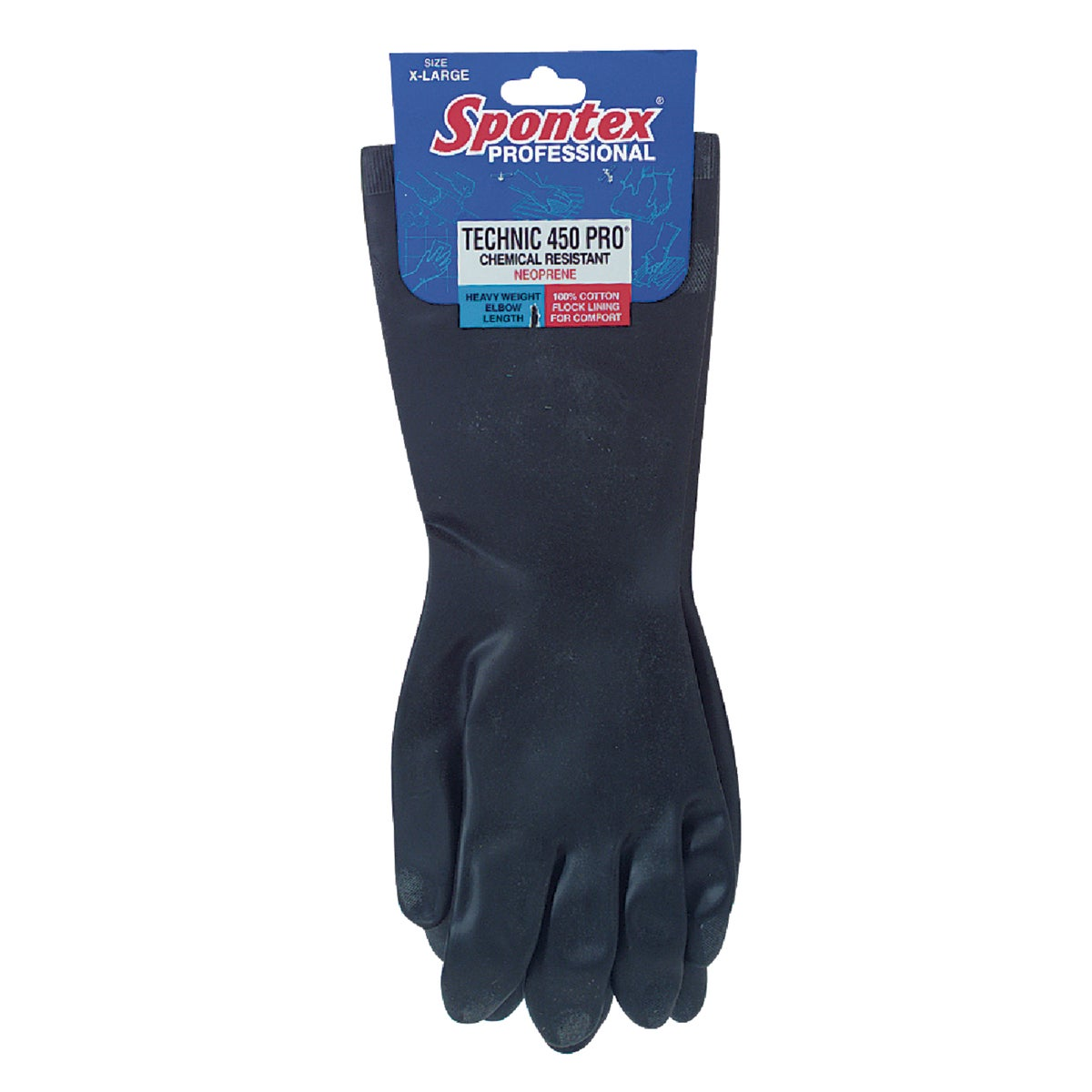 MEDIUM RUBBER GLOVES - 33557 by Lehigh Spontex