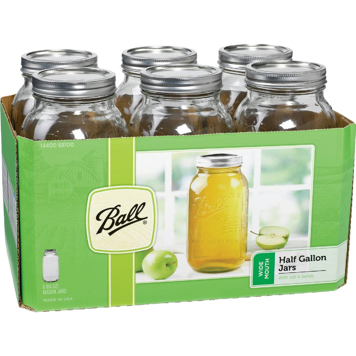 6 1/2GL W/M MASON JARS - 68100 by Jarden Home Brands
