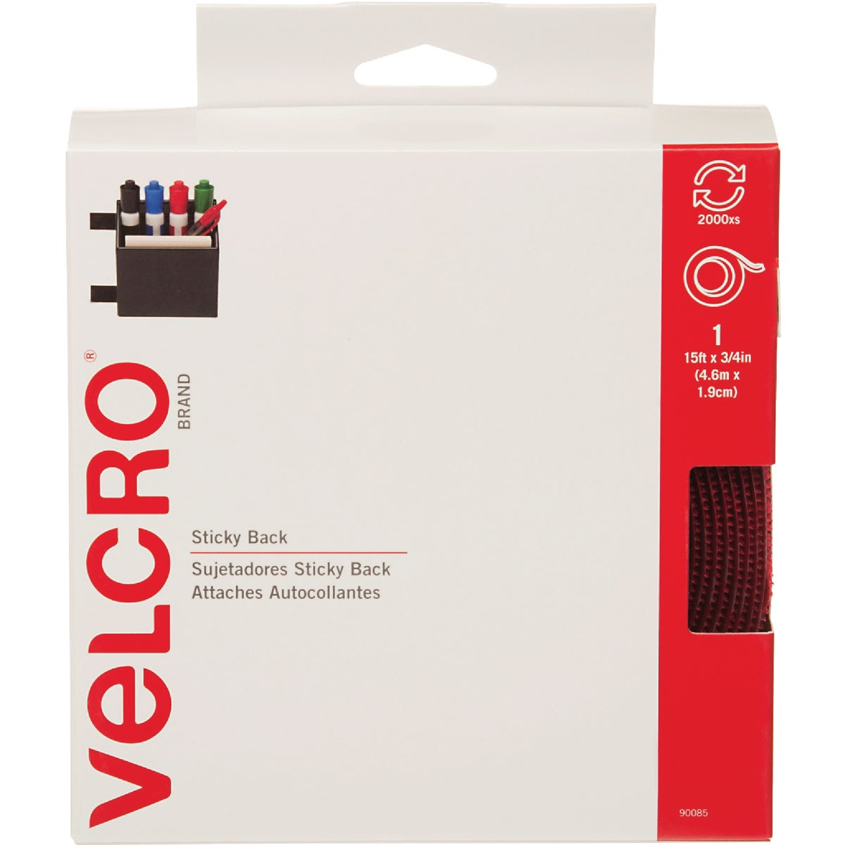 5YD RED ADHSVE FASTENER - 90085 by Velcro Usa
