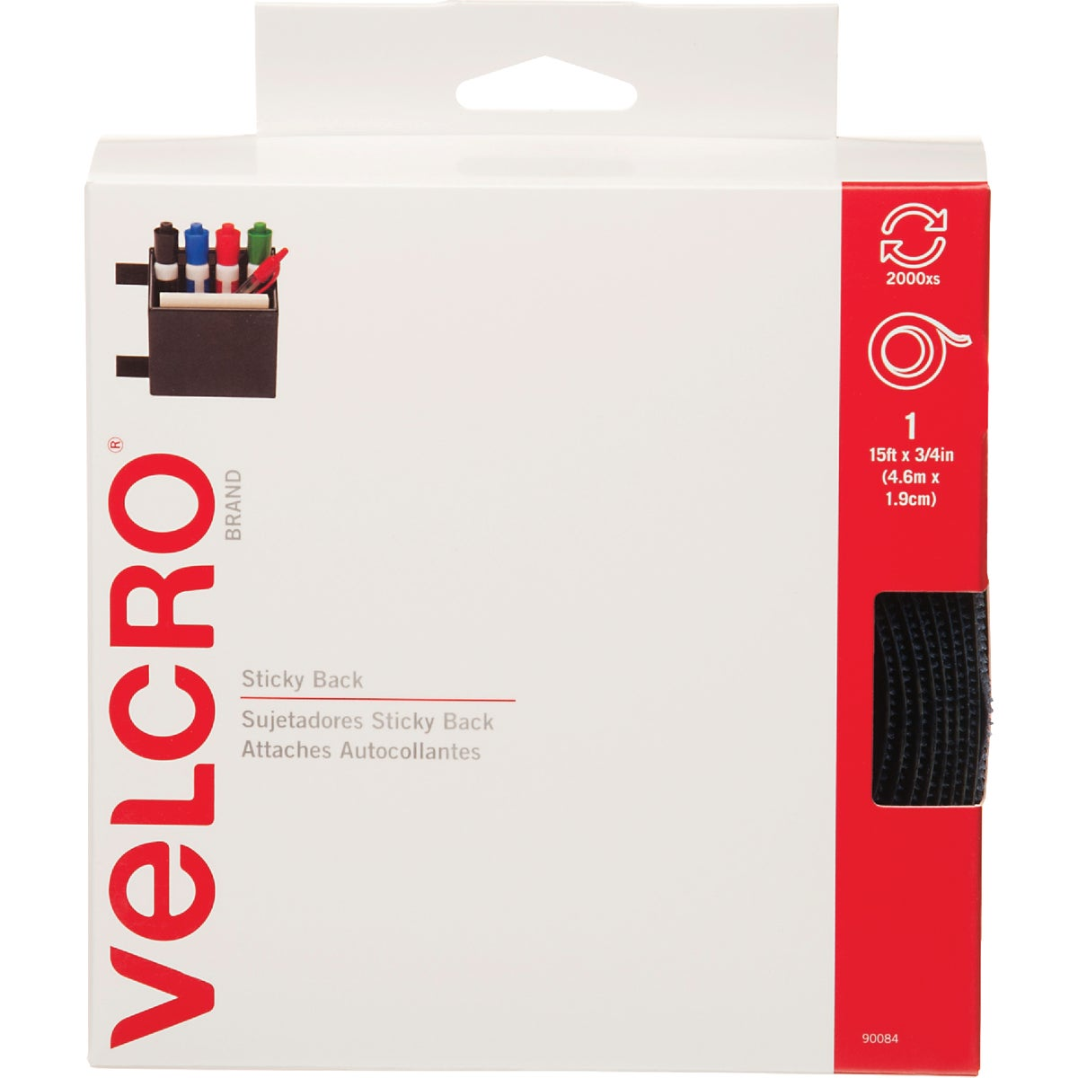 Velcro USA VELCRO brand Adhesive Backing Hook & Loop Tape