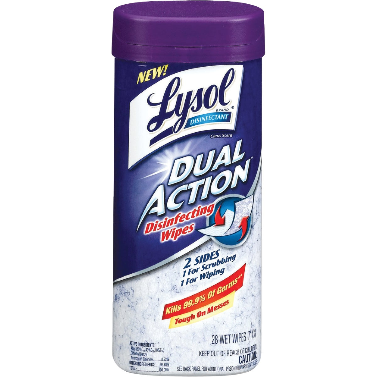LYSOL DUAL ACTION WIPES - 1920081143 by Reckitt Benckiser