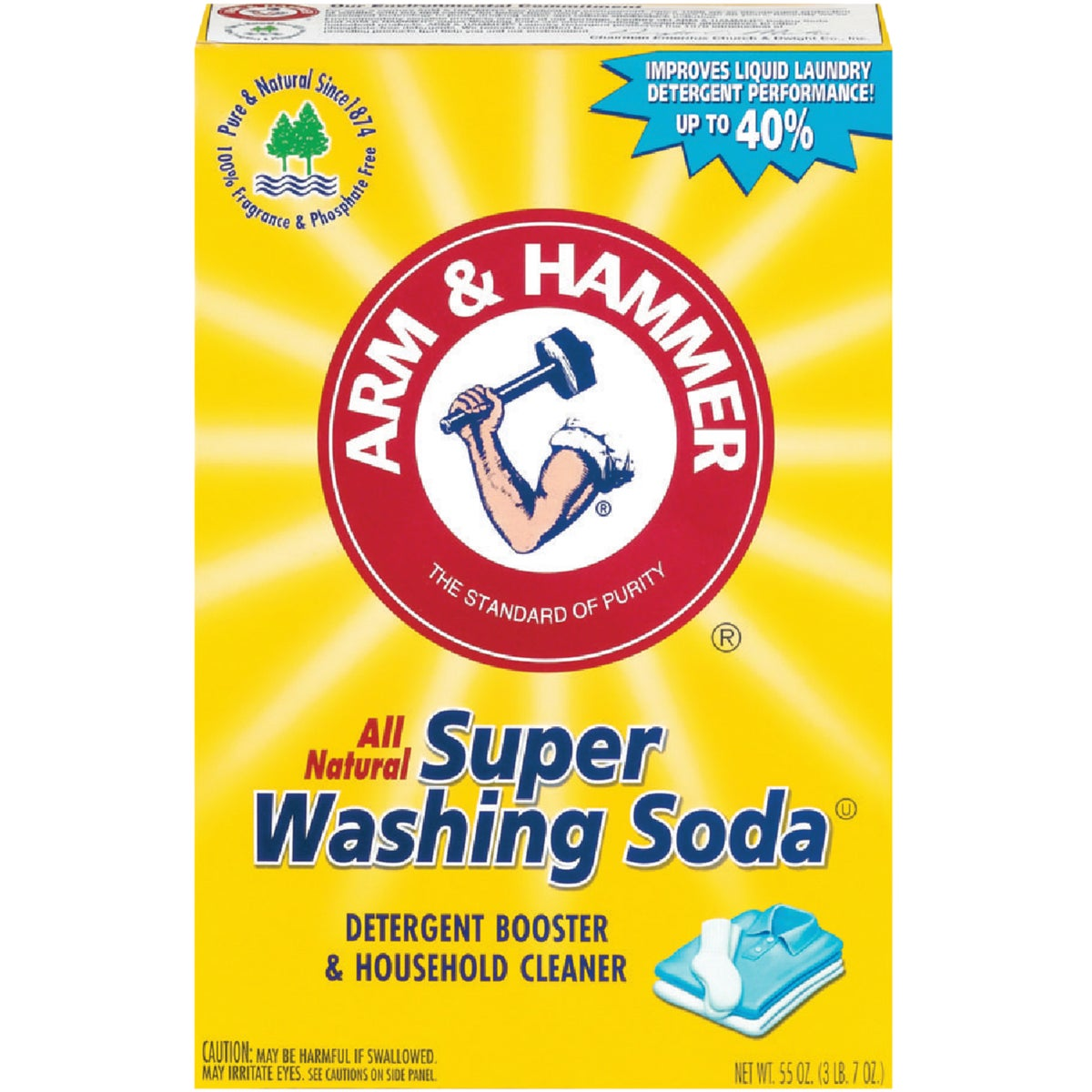 A&H SUPER WASHING SODA - 03020 by Church & Dwight Co