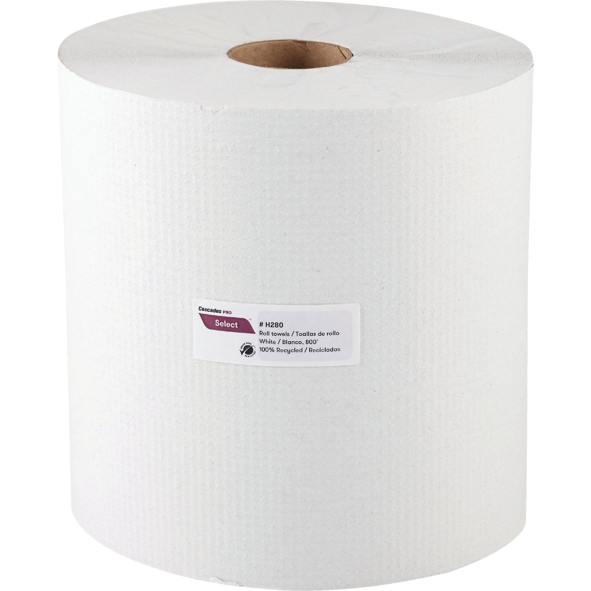 700' WHT HARD ROLL TOWEL - 75009530 by Bunzl USA