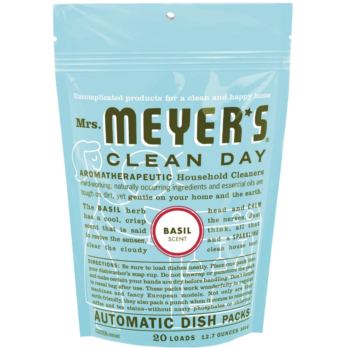 BASIL DISHWASHING PACKS - 14464 by Mrs Meyers Clean Day