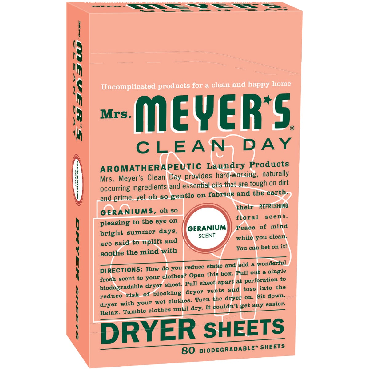 GERANIUM DRYER SHEETS