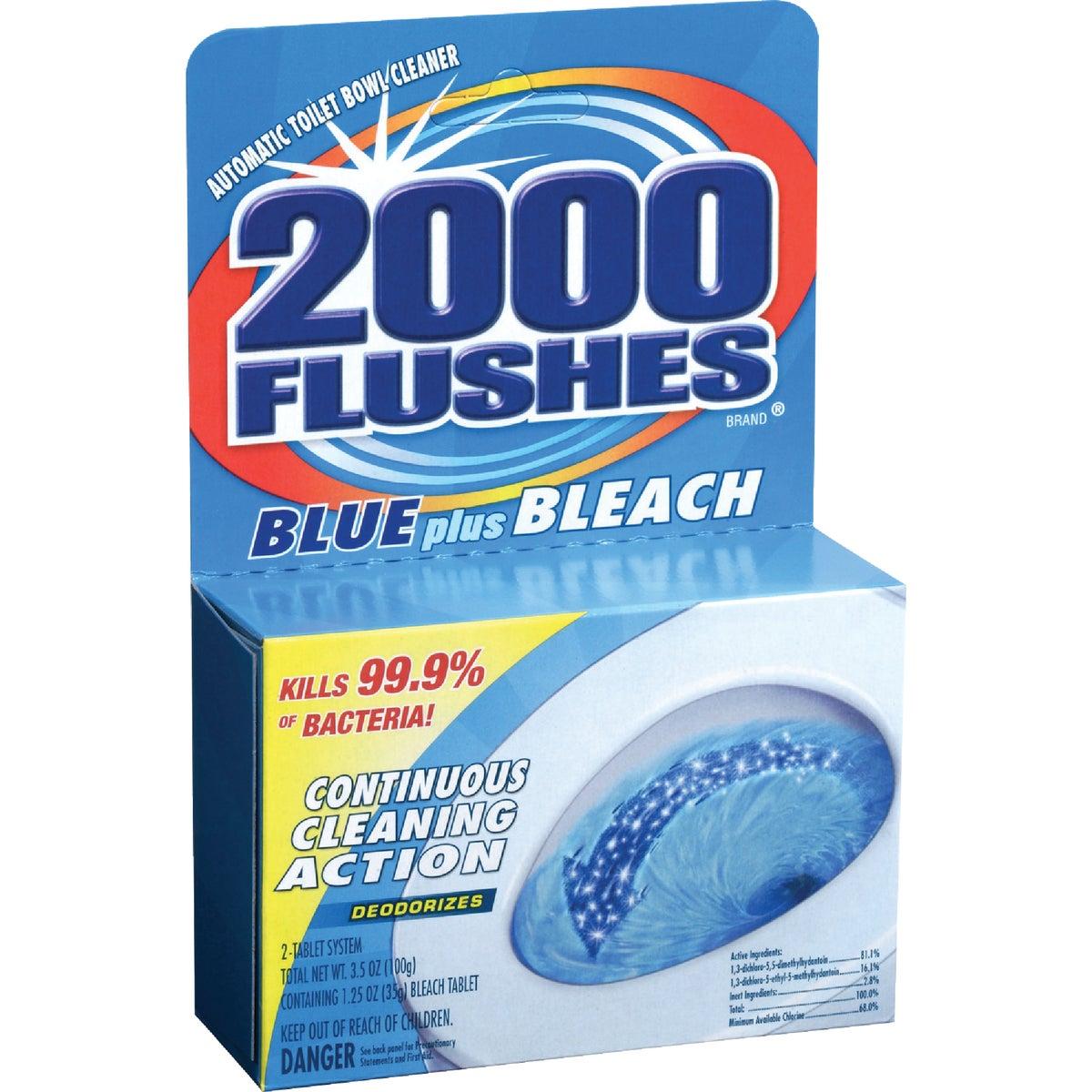 2000 Flushes Blue Plus Bleach Automatic Toilet Bowl Cleaner