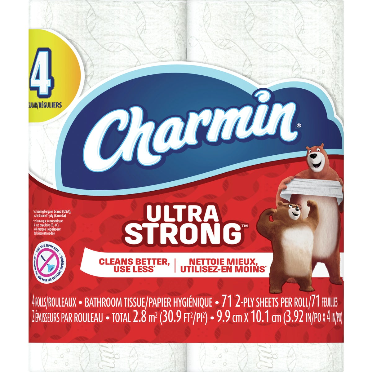 4 REGULAR ROLL CHARMIN