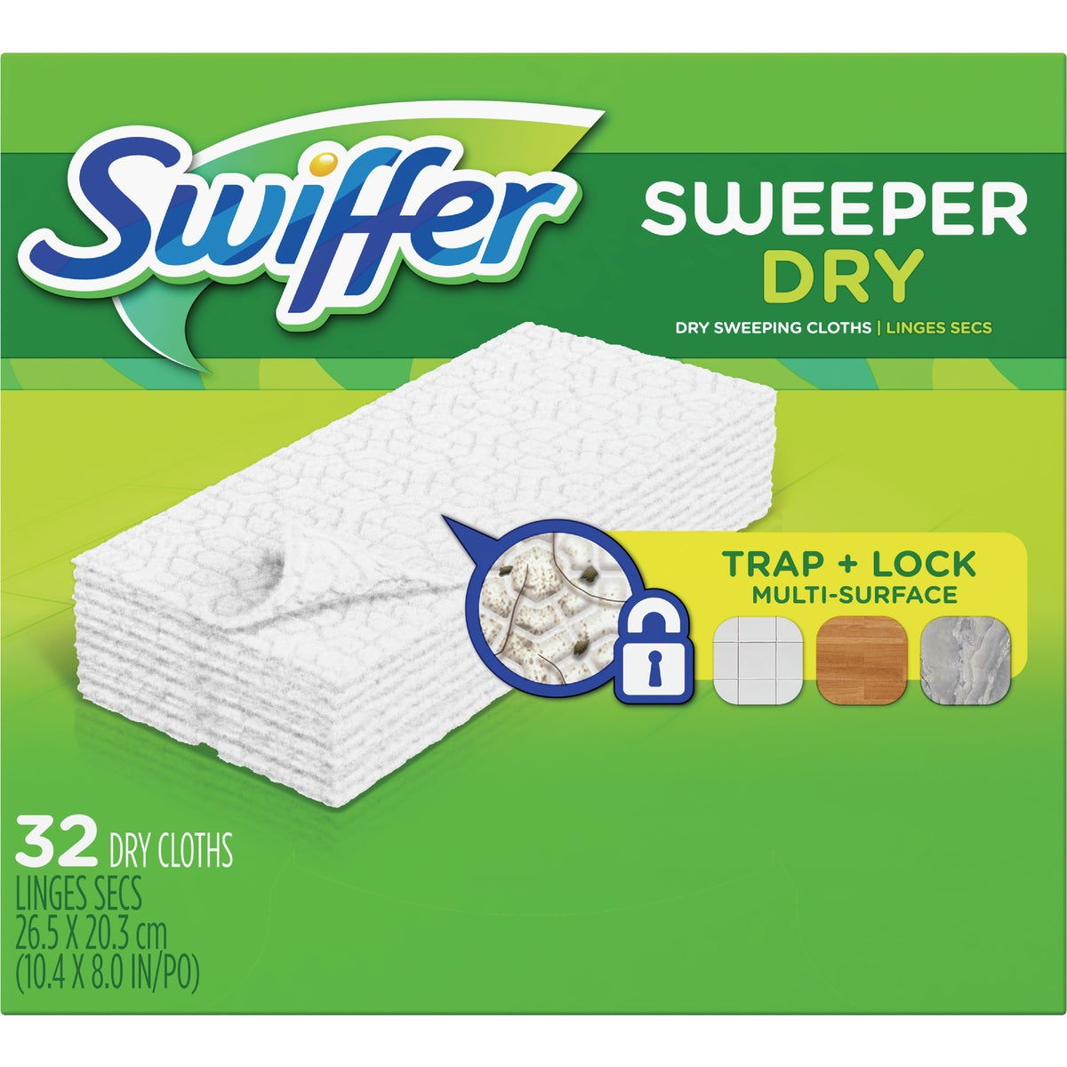 32 SWIFFER REFILL CLOTHS - 31822 by Procter & Gamble
