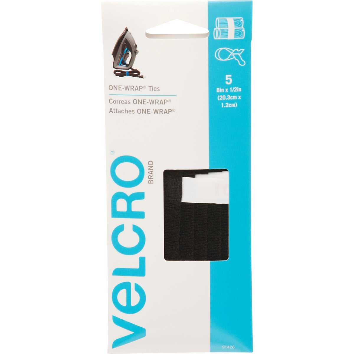 BLK WRITEON 1-WRAP STRAP - 91426 by Velcro Usa