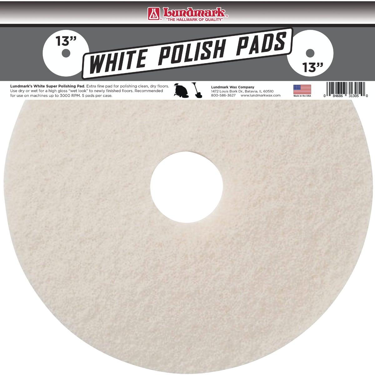 "13"" WHITE BUFFER PAD"