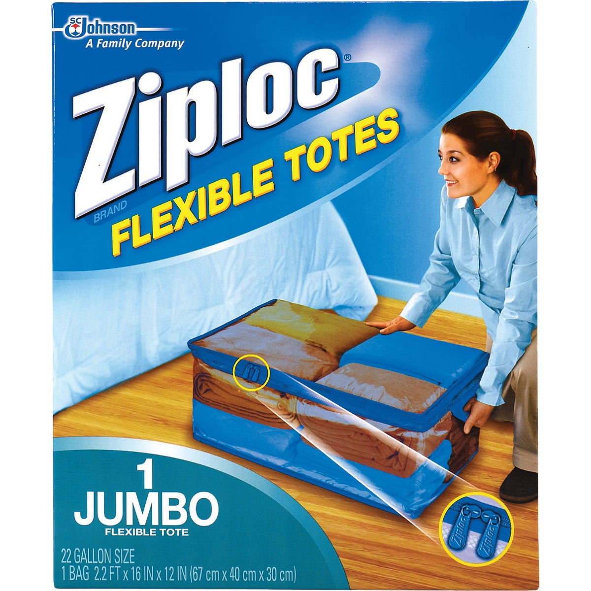 XXL ZIPLOC FLEX TOTE - 70162 by Sc Johnson