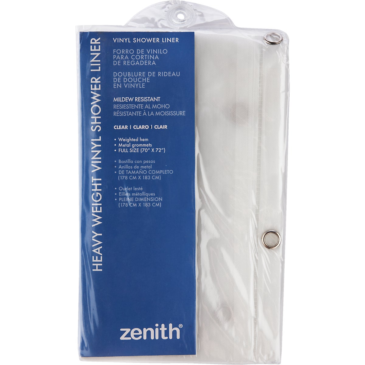 CLR SHOWER CURTAIN/LNR - H28K by Zenith Prod Corp