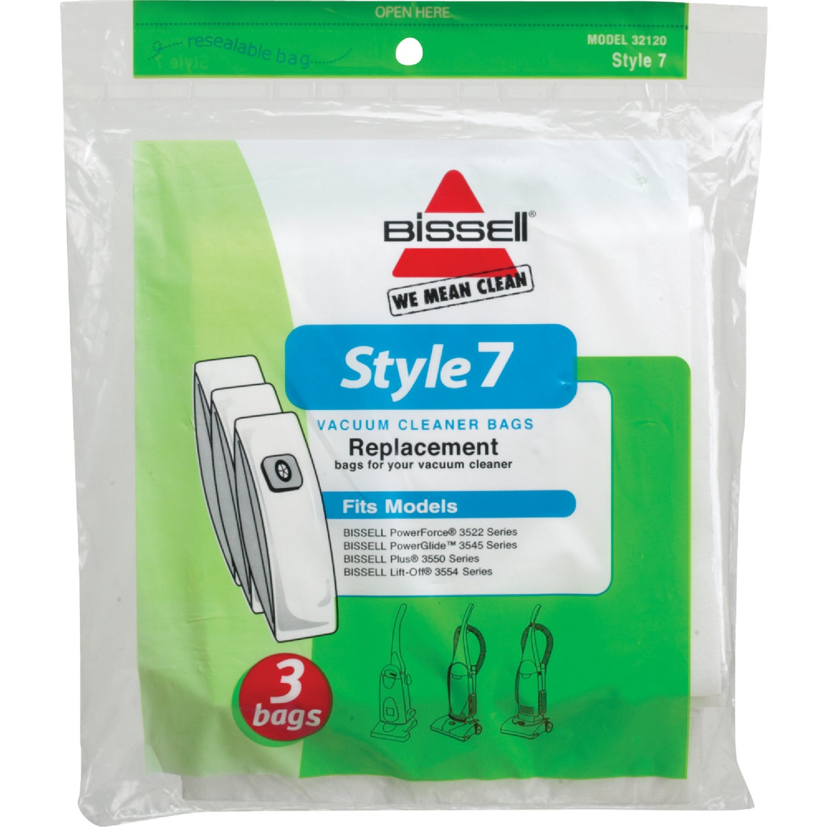 STYLE 7 VACUUM BAG - 32120 by Bissell Homecare Int