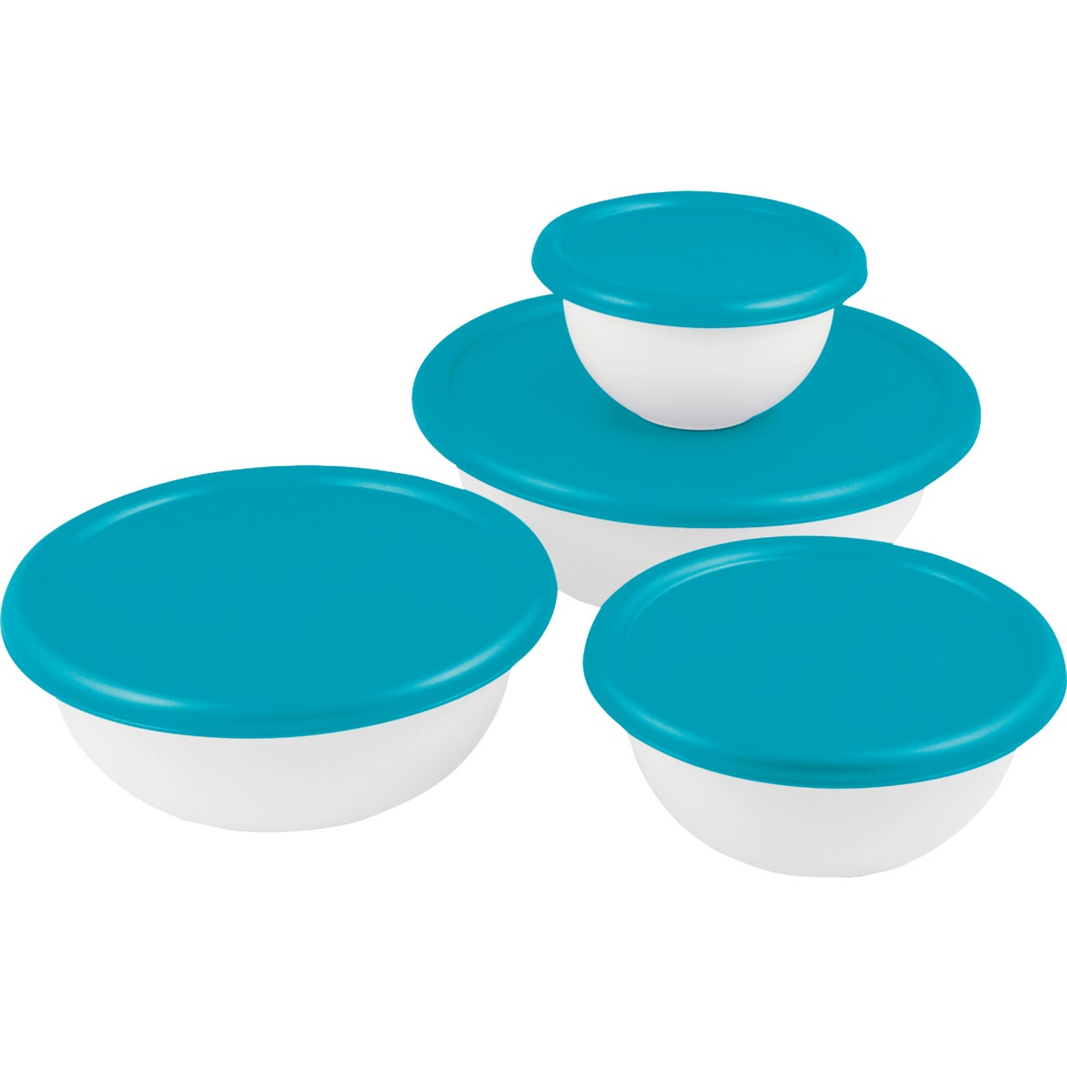 8PC COVERED BOWL SET