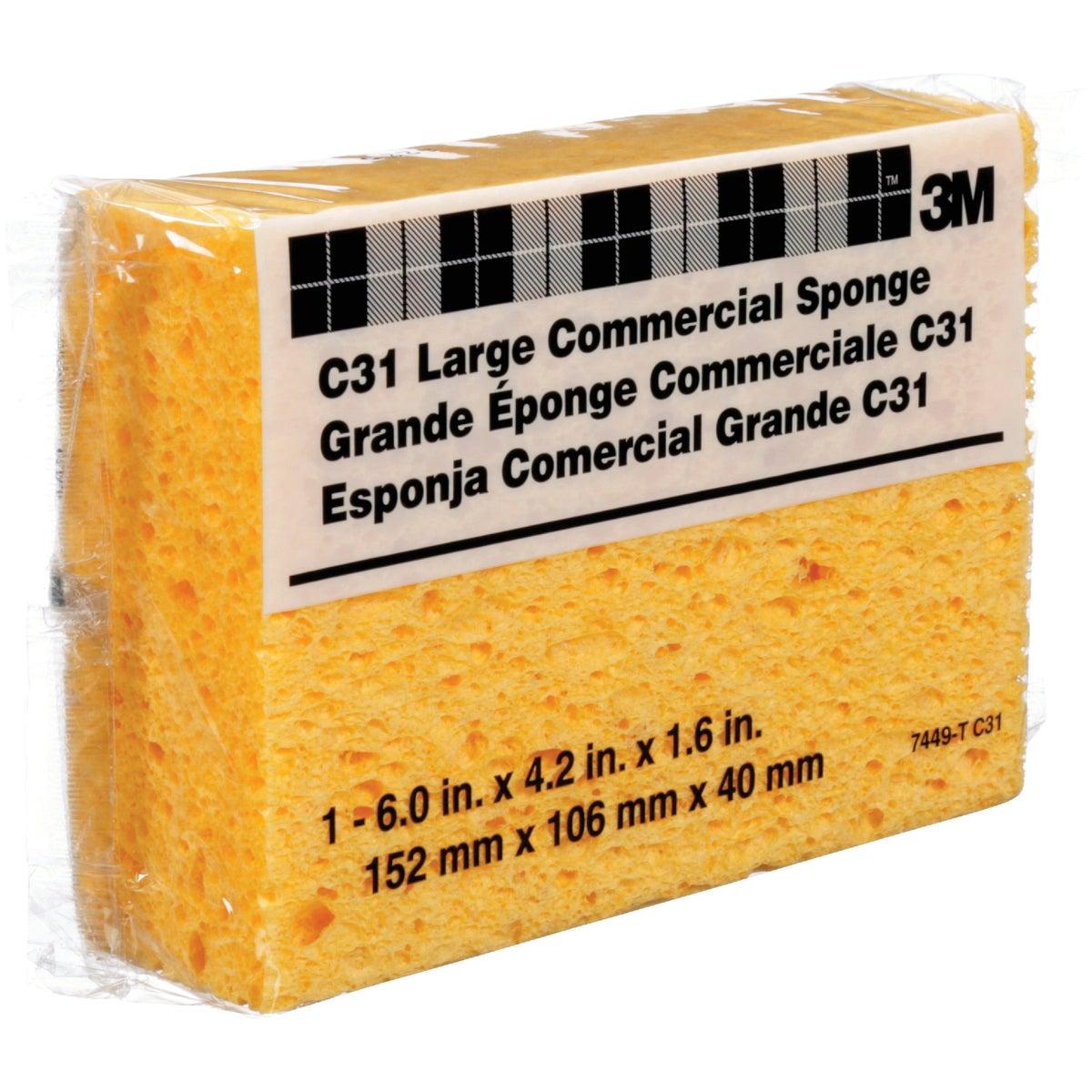 3M 6 In. x 4.25 In. Yellow Sponge