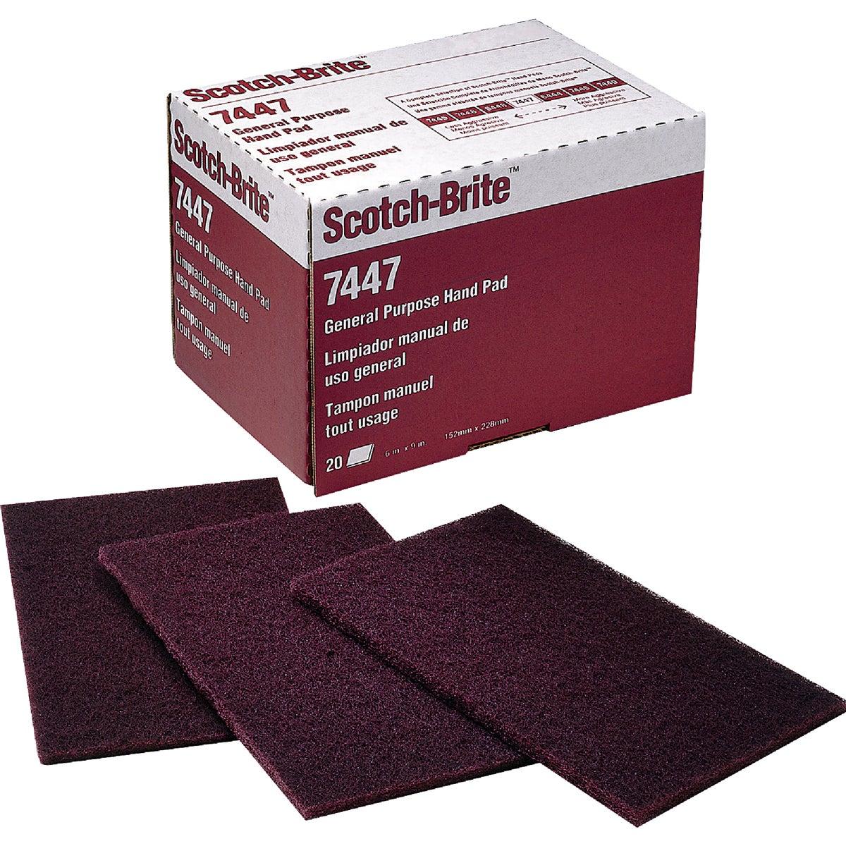 3M SCOTCHBRITE MRN HAND PAD 7447