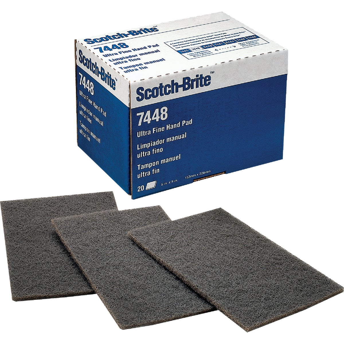 SCOTCHBRITE GRY HAND PAD - 7448 by 3m Co