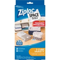 Ziploc Space Bag Vacuum Seal Cube Combo Storage Bag, 86112