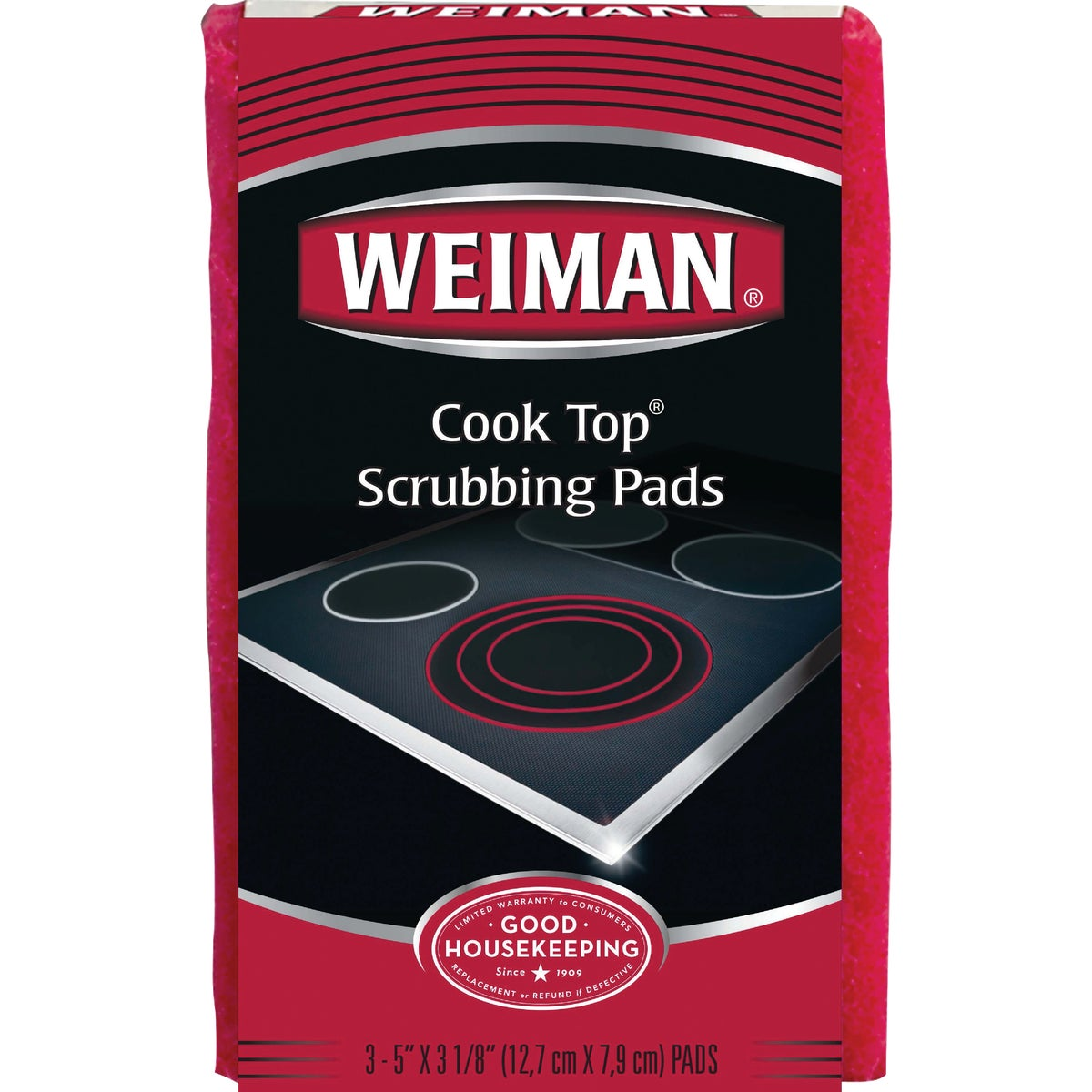 Weiman Products LLC 3CT COOK TOP SCRUB PADS 45