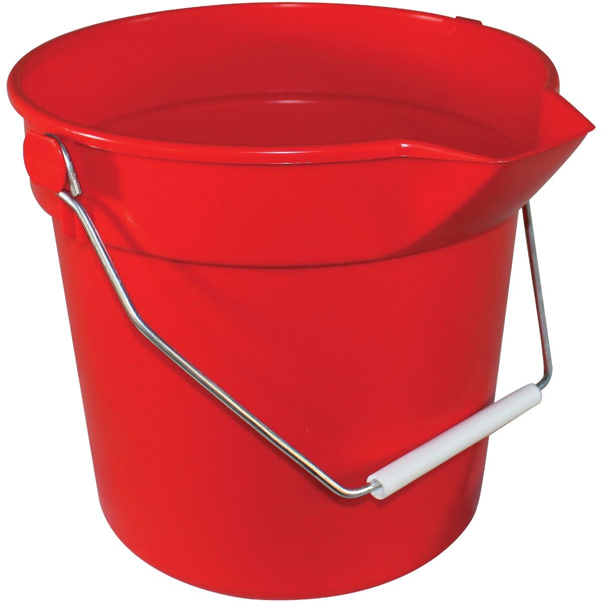 10 Quart Red Bucket