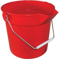 Rubbermaid Comm. 10 QUART RED BUCKET FG296300RED