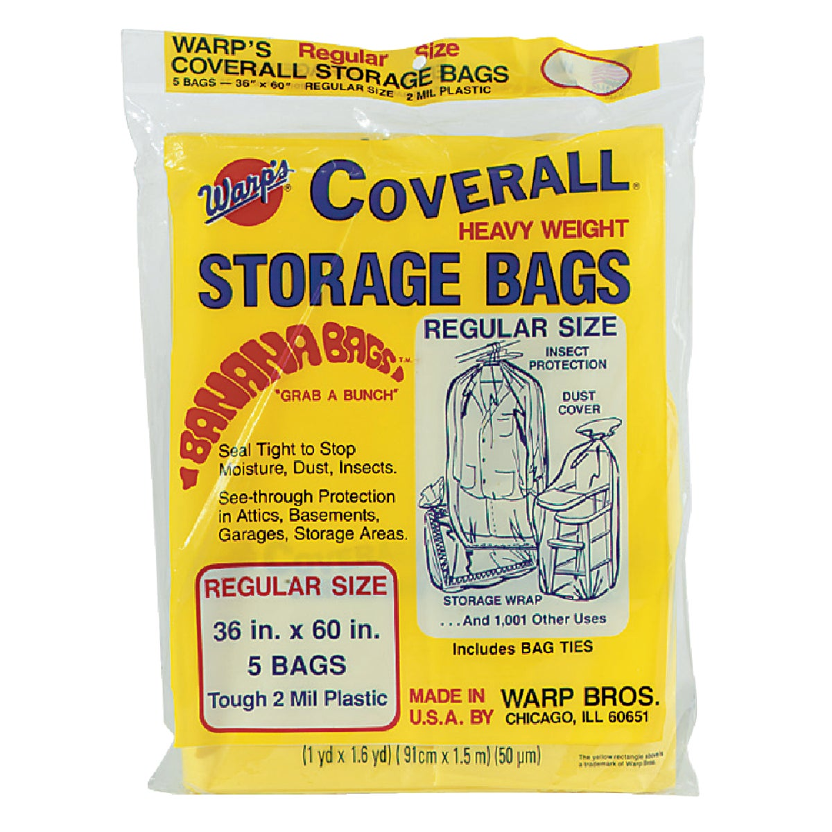 Warp Bros. 36X60 STORAGE BAG CB36