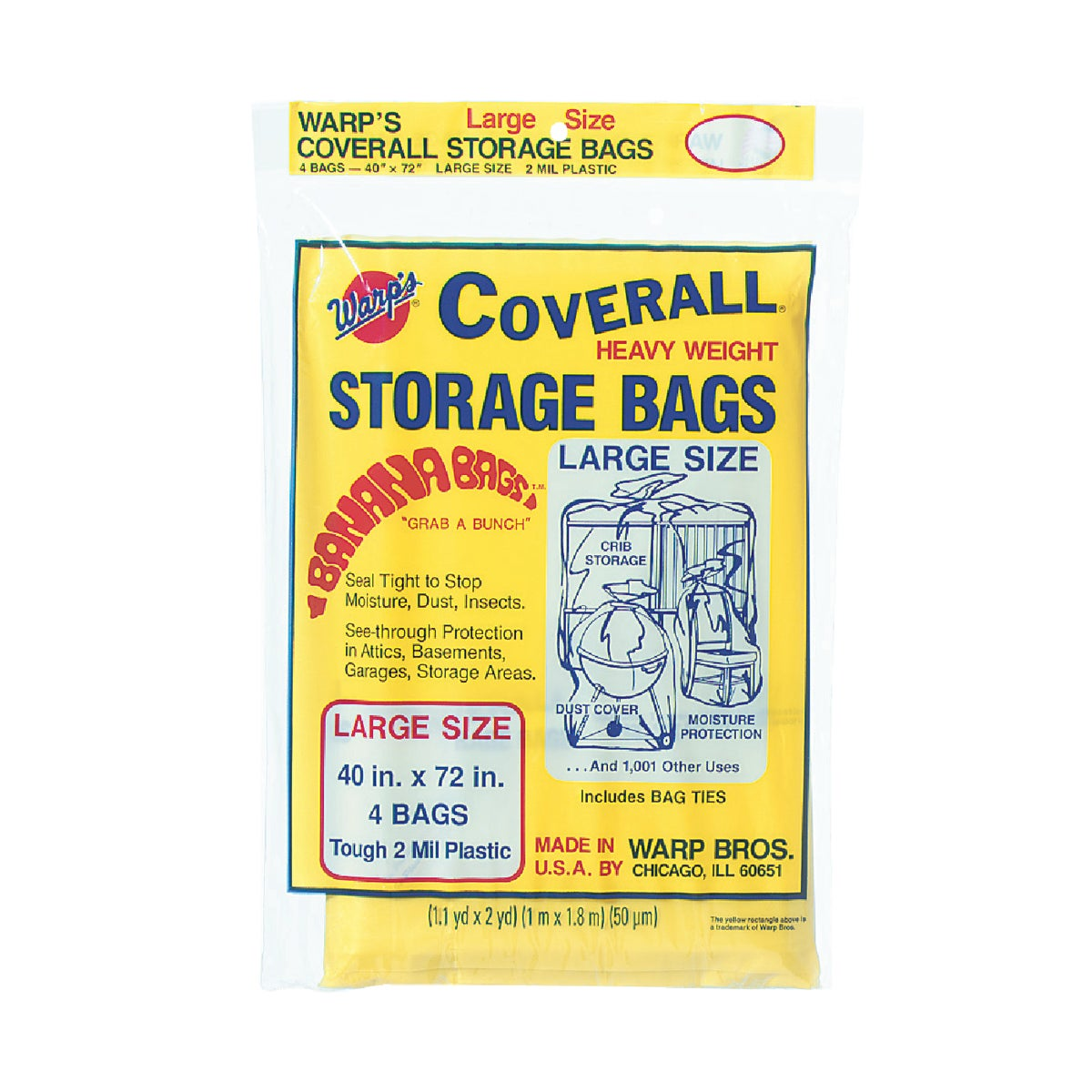 Warp Bros. 40X72 STORAGE BAG CB40