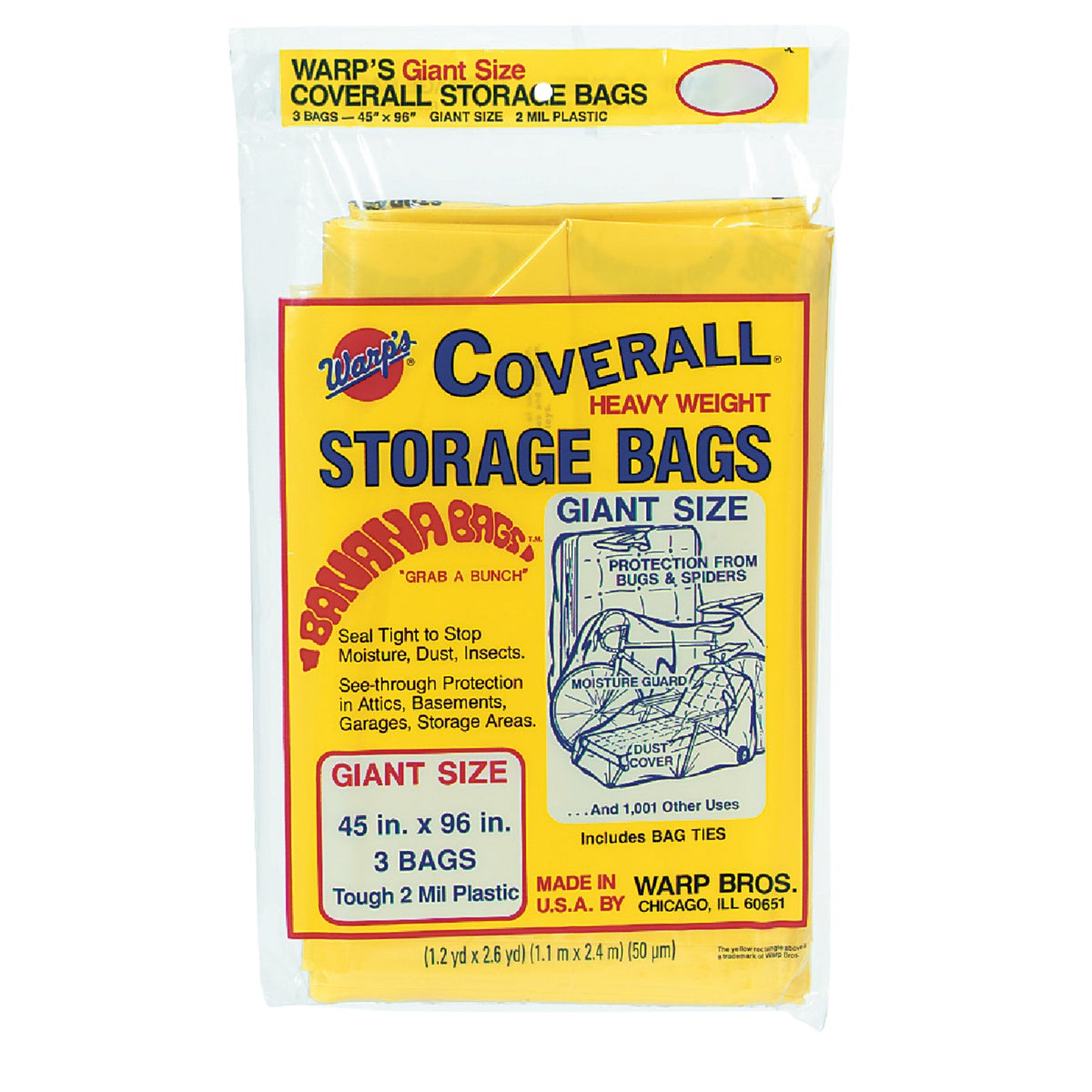Warp Bros. 45X96 STORAGE BAG CB45