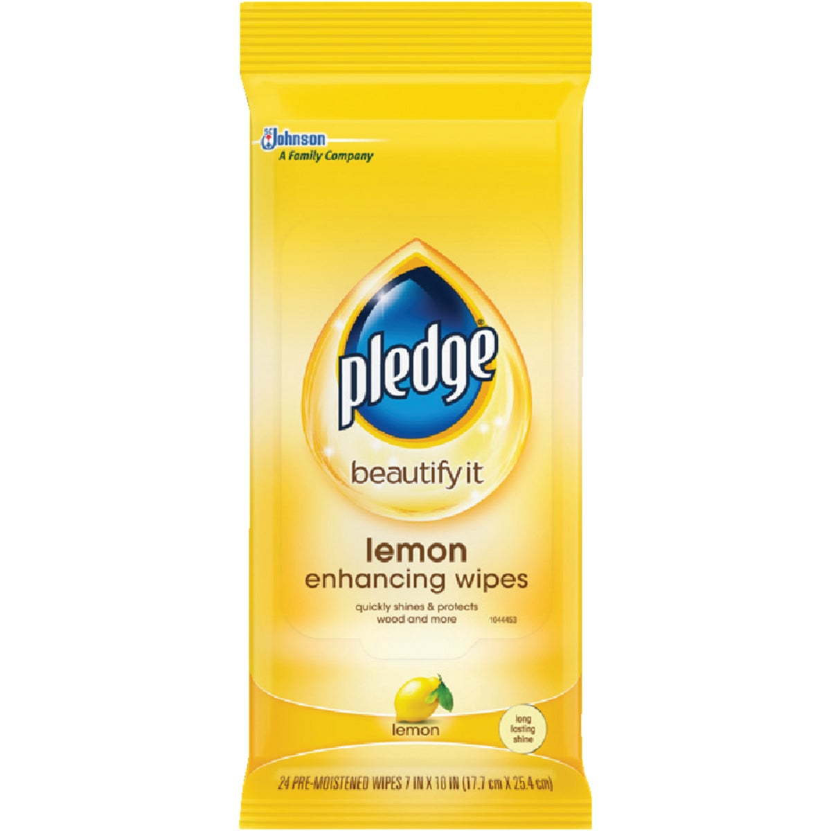 Pledge Lemon Furniture Polish Wipes, 72807